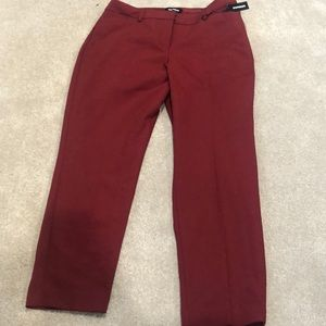 Express red wine ankle publicist pants. NWT